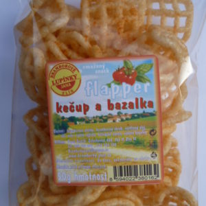 Snack mřížka kečup, bazalka