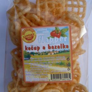 Snack mřížka kečup, bazalka